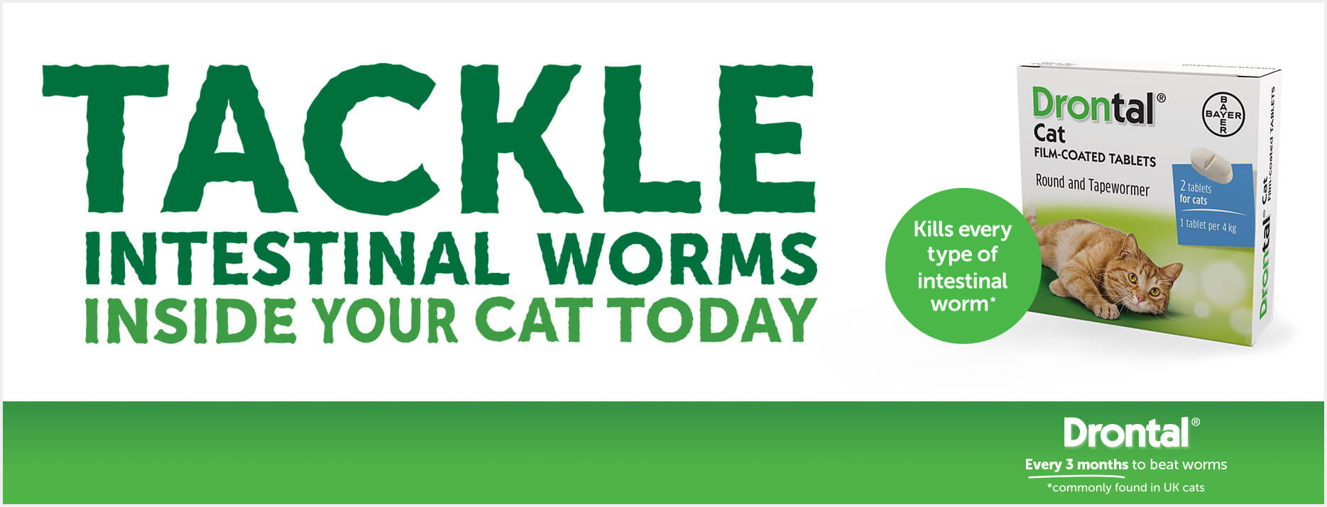 Drontal Cat Worming Tablet  Cheap Prices | VetShop co uk