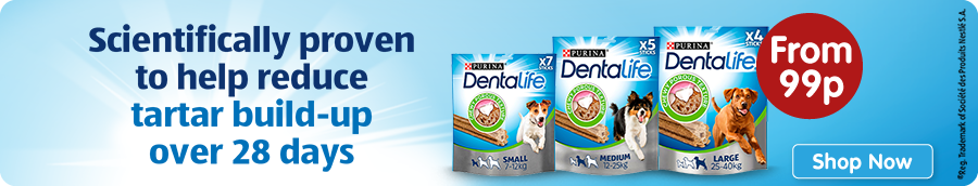 Dentalife Dog Treats and Chews Banner