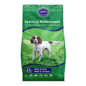 Alpha Adult sporting dog food 15Kg