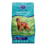 blue packaging four dogs sensitive