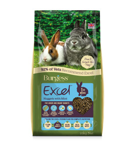 Burgess Excel Junior & Dwarf Rabbit Food - 10kg