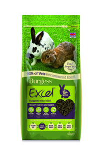 Burgess Excel Rabbit Adult Food - 4kg