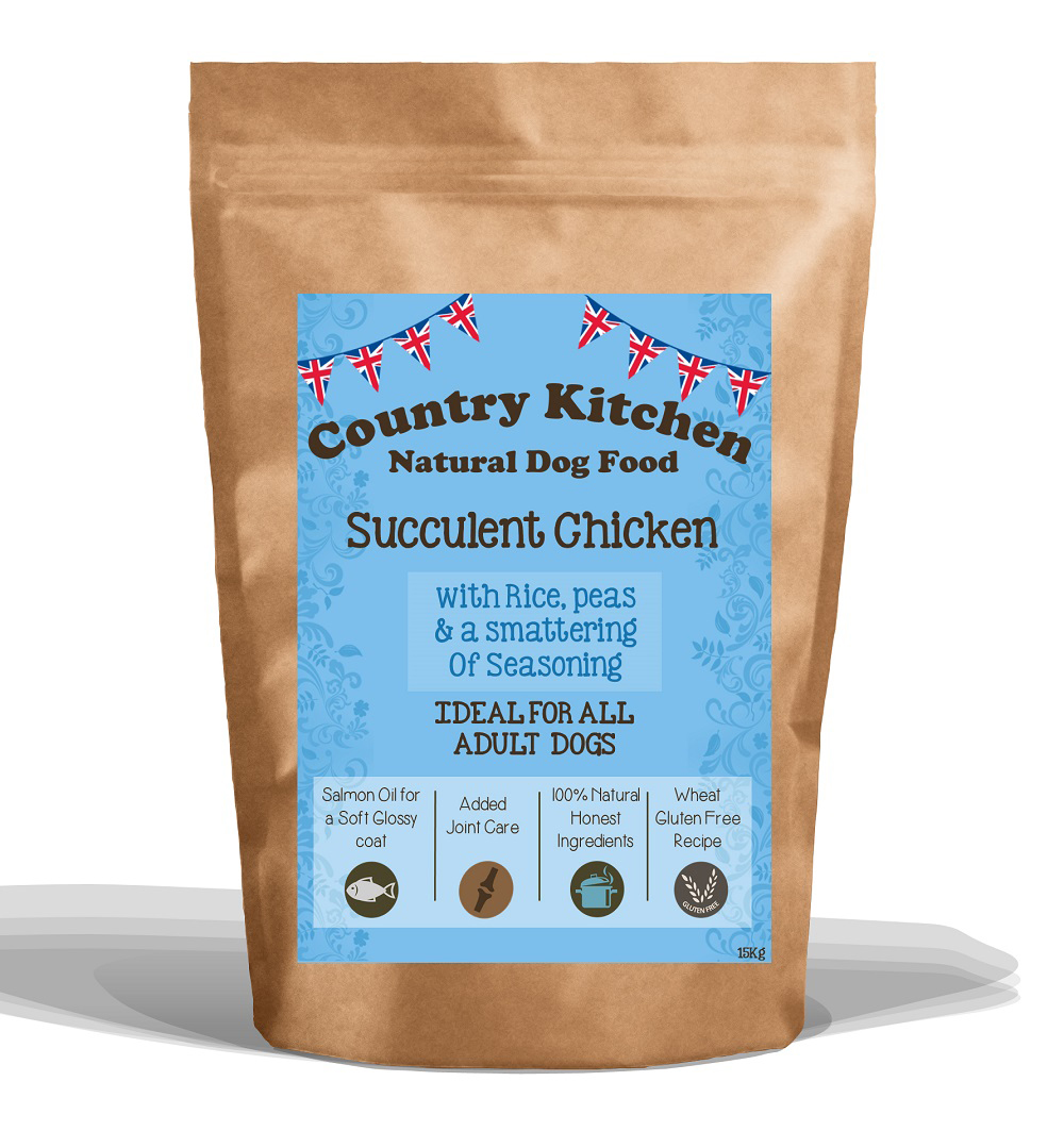 Country Kitchen Succulent Chicken Dry Dog Food 15kg   Buy Online At  PetShop.co.uk