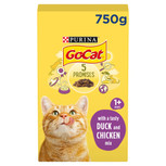 Go Cat Complete Adult Chicken & Duck Dry Cat Food - 825g