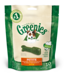Greenies petite dental treat
