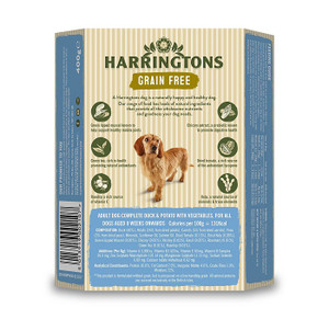 Harringtons Duck Potato Veg Dog