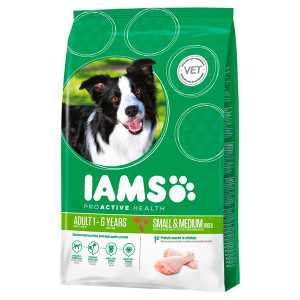 green package small medium dog food