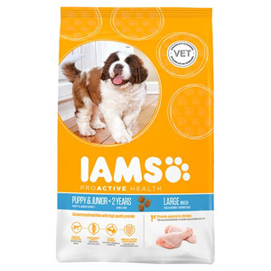 yellow package lams dry dog food