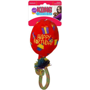 medium red kong birthday ballon toy