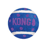 purple Kong tennis ball cat toy