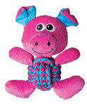kong weave knot pig medium dog toy