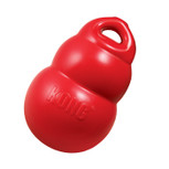 Medium red Kong bounzer dog toy