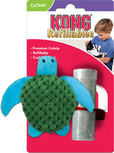 kong refillable catnip turtle toy