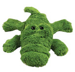 green kong cozie alligator dog toy