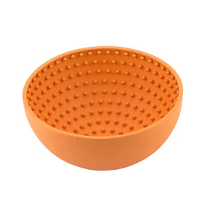 Lickimat wobble orange dog bowl