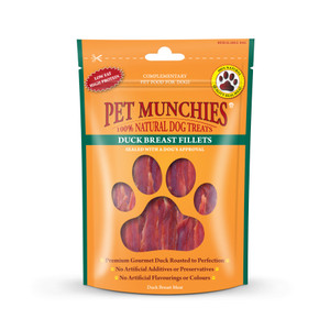 Pet Munchies duck breast fillets