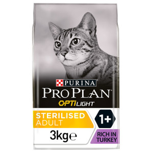 Pro Plan Cat Turkey & Rice Light Dry Cat Food - 3kg