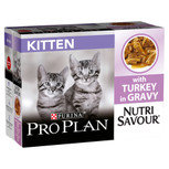 Pro Plan NutriSavour Junior Turkey in Gravy Cat Pouches - 10 x 85g