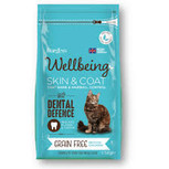 Wellbeing Grain Free Skin & Coat Dry Cat Food - 1.5kg